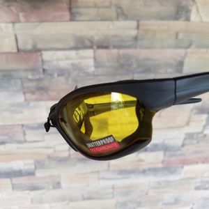 Boston Yellow Motorcycle Glasses Men Dust and Wind